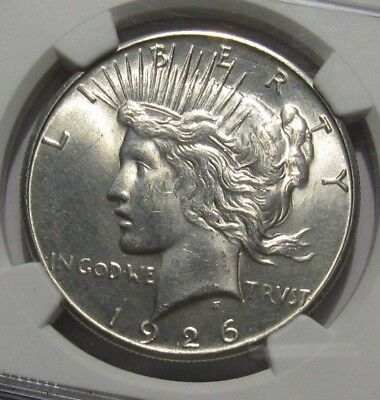 1926 S Peace Dollar - NGC UNC Details / Cleaned - 256SU