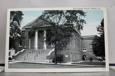 Louisiana LA First Baptist Church Ruston Postcard Old Vintage Card View Standard