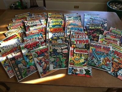 Mixed Bronze-Age lot of 45 Captain America, Conan, Spider-Man Nice Grade lot!