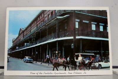Louisiana LA New Orleans Pontalba Apartments Postcard Old Vintage Card View Post