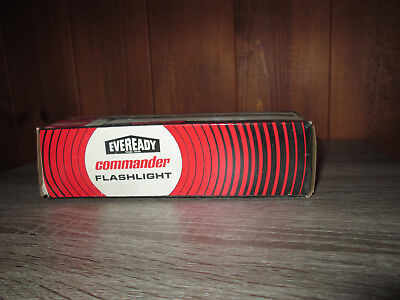 Vintage Eveready Flashlight 5251 2 D Cell Commander Chrome NOS