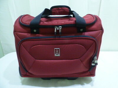 """Travelpro Rolling Carry On 16"""" x 14"""" Tote Luggage Red"""