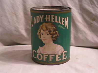 Lady Helen Coffee Tin Made By The Kellum Co.