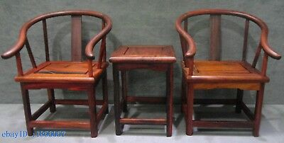 The ancient Chinese sculpture collection of nanmu process tables and chairs