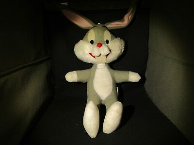 "1971 Vintage Warner Bros Mighty Star 16"" Bugs Bunny Plush Stuffed Animal"