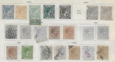 23 Caribbean Island Stamps from Quality Old Antique Album 1878-1882