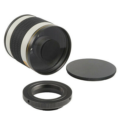 500mm f/6.3 Tele Telephoto Mirror Lens for Nikon DSLR Camera+T Mount Adapter