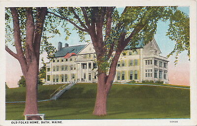 US Bath City ME c.1920 Old Folks Home built by shoe manufacturer Thomas Plant!!!