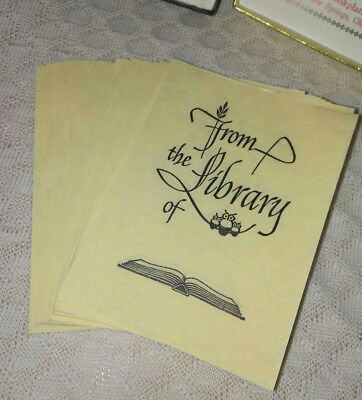 Vintage Antioch Book Plates  'From the Library of'