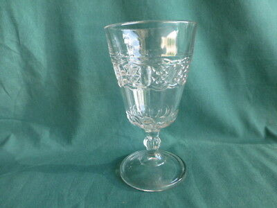 Chain with Star Early American Pattern Glass Goblet