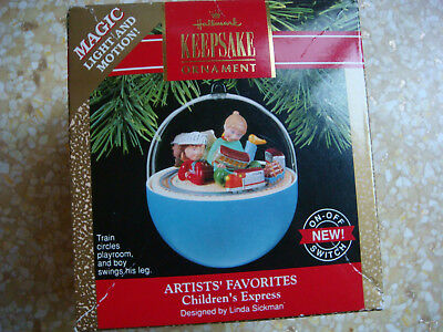 Hallmark Keepsake Light & Motion Christmas Tree Ornament - Childrens Express '90