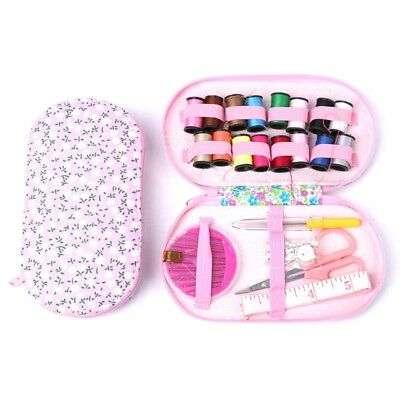 Portable Travel Sewing Kit Box Needle Threads Scissor Home DIY Handwork Tool
