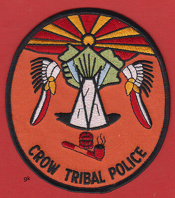 CROW TRIBAL POLICE SHOULDER PATCH  (Montana)