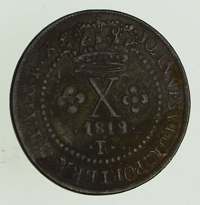 1819 Brazil 10 Reis - Historic World Coin *649