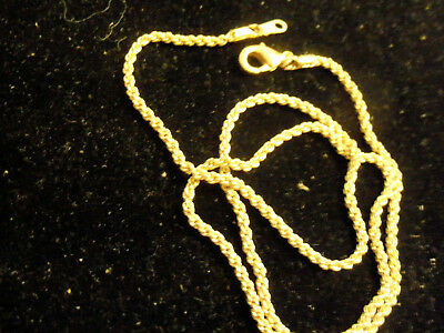 bling gold plated FASHION JEWELRY 2mm 18inch long rope chain hip hop necklace GP