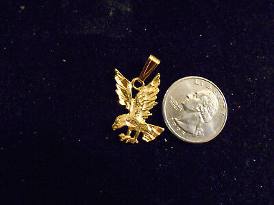 bling gold plated sport military fashion eagle pendant charm necklace JEWELRY gp