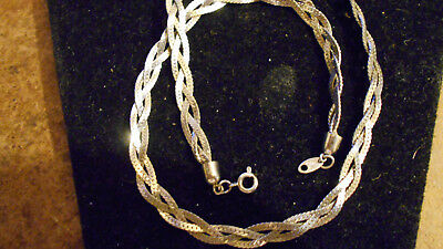 bling silver plated 3 strand serpentine 19 inch hip hop fashion chain necklace