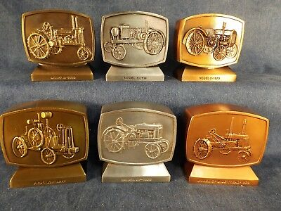 John Deere Employees Credit Union Banks - Set Of Six Tractors -  Boxes - Rare!