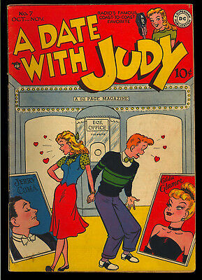 A Date with Judy #7 Nice Golden Age DC Teen Humor Comic 1948 FN-