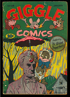 Giggle Comics #25 Nice Abraham Lincoln Cover Golden Age ACG 1946 VG-