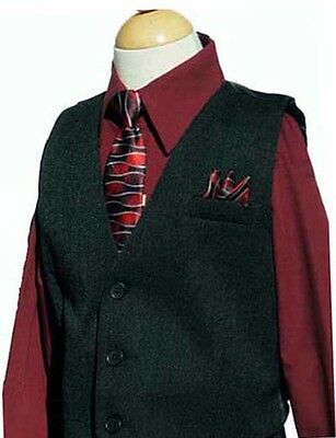 Boys Recital, Vest Suit Set w/Pinstripe, Burgundy/Black, Sz: 2T