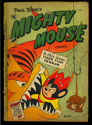 Mighty Mouse Comics #45 Giant Edition 100 Pages St. John 1953 GD
