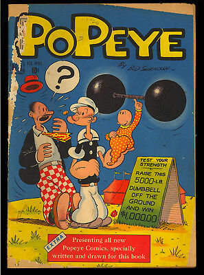 Popeye #1 Unrestored First Issue Golden Age Dell Comic 1948 GD