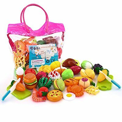 ❤ Toy Soni 32Pcs Cuttings Pretend Food Fruits Vegetable Playset Educational Lear