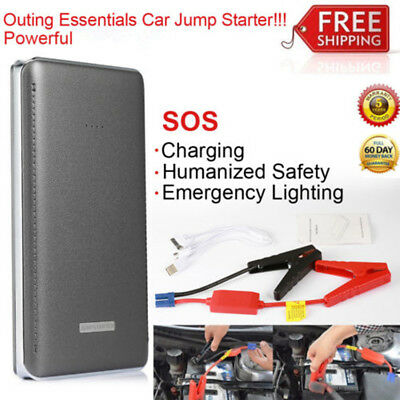 Car Jump Starter LED Battery Charger Booster Emergency Power Bank Rechargeable