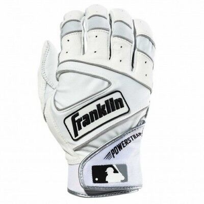 Franklin Powerstrap Batting Gloves - Pearl/White - XL