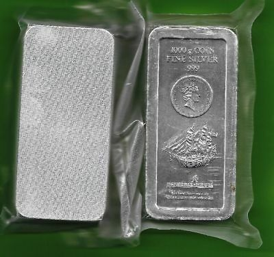 1 Kilo Silbermünze Bounty 30 $ Cook Islands 2009 Silber st