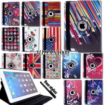 Leather 360 Rotating Stand Case Cover For iPad 1234 /iPad Mini 1234 /iPad Air 2