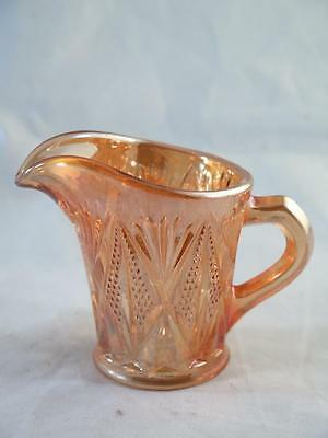 VINTAGE CARNIVAL GLASS Milk or Cream Jug Marigold Colour Lustre Finish