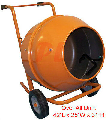 5 CUBIC FT Wheel Barrow Portable Cement Concrete Mixer *FREE SHIPPING*