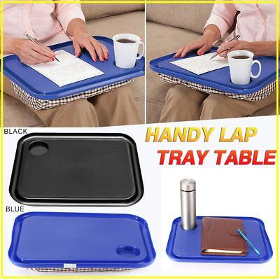 Portable Handy Lap Tray Laptop Table Outdoor Learning Desk Breakfast Tables
