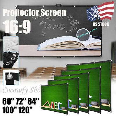 USA 100inch HD Projector Screen 16:9 Cinema Theater Projection Portable Screen