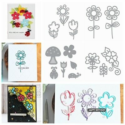 Hollow Flower Cutting Dies Stencil DIY Scrapbooking Paper Card Embossing Crafts