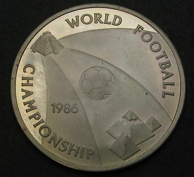 EGYPT 5 Pounds AH1406 / AD1986 Proof - Silver - Soccer Championships - 1494