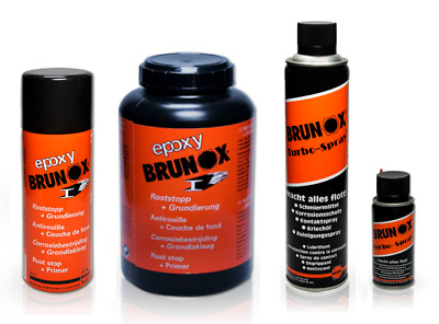 BRUNOX Set Epoxy 0,4L, 1L Turbo Spray 0,4L Rostumwandler Grundierung Rostlöser