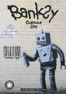Banksy Wall Calendar 2019 - Large A3 - Art Artist Graffiti Christmas Gift