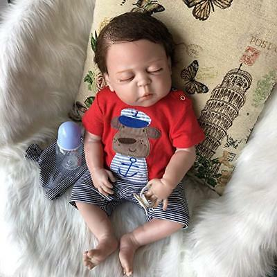 "18"" Anatomically Correct Reborn Baby Dolls Lifelike Full Body Silicone Boy Gifts"