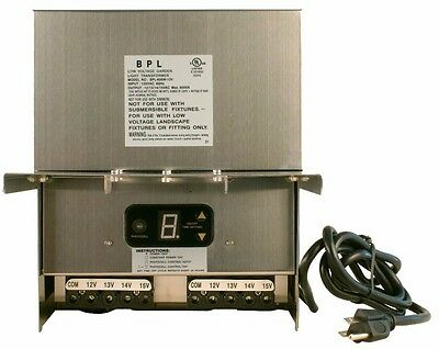600W Low Voltage Outdoor Landscape Lighting Transformer