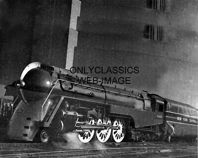 1938 20Th Century Limited Locomotive 8X10 Photo Art Deco New York Central Train