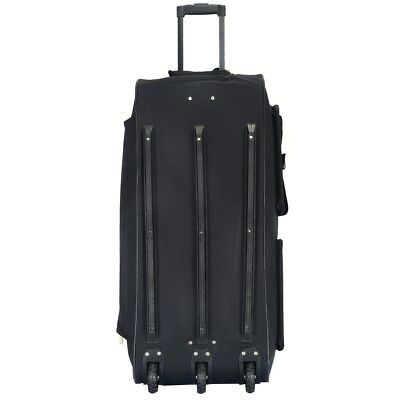 "36"" Rolling Tote Duffle Bag Wheeled Luggage Carry Travel Duffle Suitcase Black"