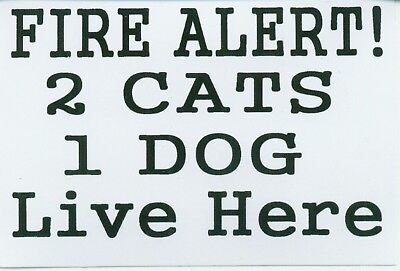 FIRE ALERT DOG STICKER Pug Boxer Terrier etc.