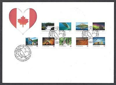 2018 From Far and Wide SCARCE FDC with coil stamps (9 stamps)