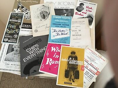 Selection Of Vintage Theatre Programmes