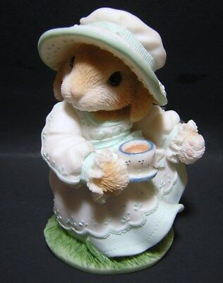 "My Blushing Bunnies Daisy Hare ""Tea and Friendship hit the Spot""   by Enesco"