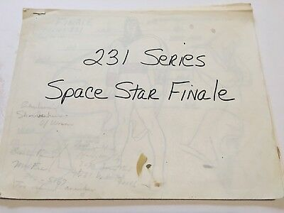 SPACE STAR FINAL Original Animation Color Model Sheet Packets 1980 Hanna Barbera