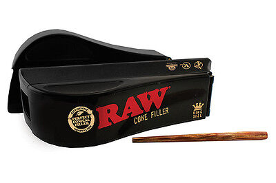 RAW Cone Filler King Size - 1 Loader - Cone Stuffer Scoop Rolling Paper Black